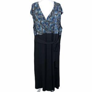 Maggy London Women Cap Sleeve Faux Wrap Dress